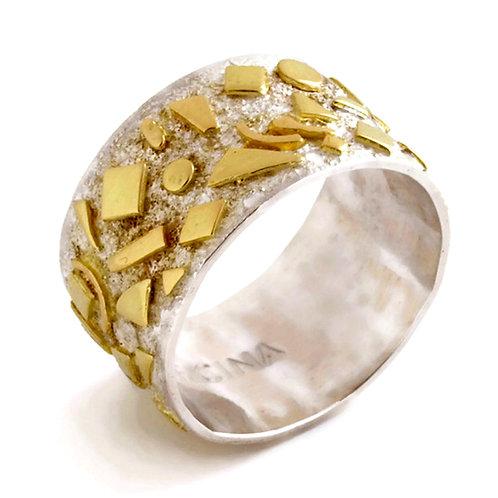 Anello in oro e argento. Gioielli Firenze