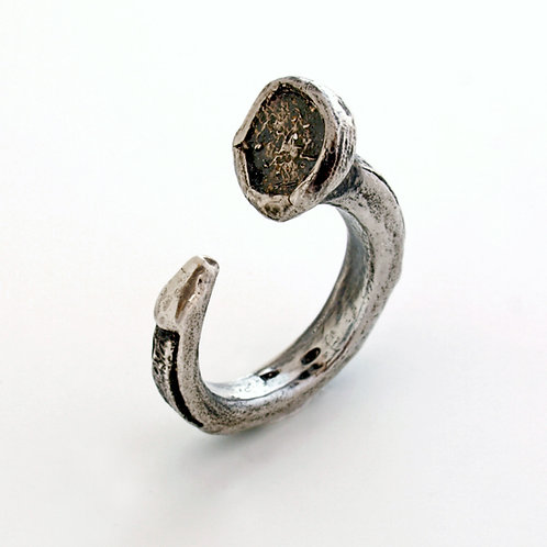 Oxidized Sterling silver ring. Florence Jewelry craft online selling