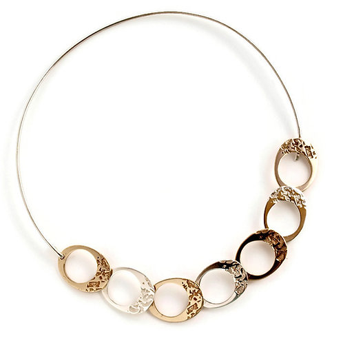 Silver and bronze necklace. Florence Jewellery craft online selling
