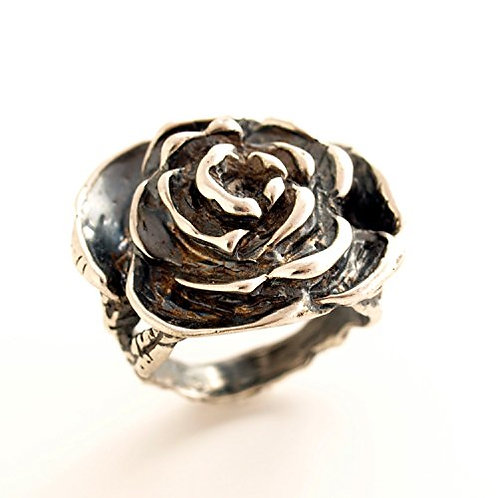Silver rose ring. Florence Jewelry  online sale