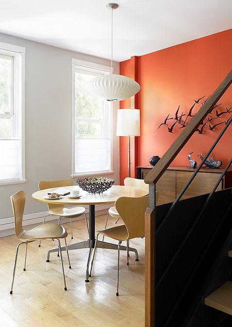 Orange wall, Nelson pendant