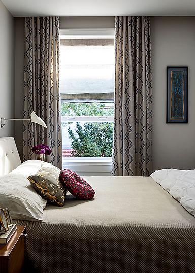 David Weeks sconces, calm bedroom