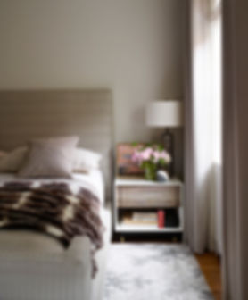 Calm bedroom, BDDW bedside cabinet