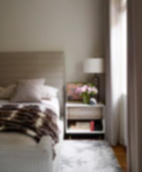 Calm bedroom, BDDW bedside cabinet