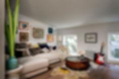 Kid friendly lounge, cozy den, cozy family room