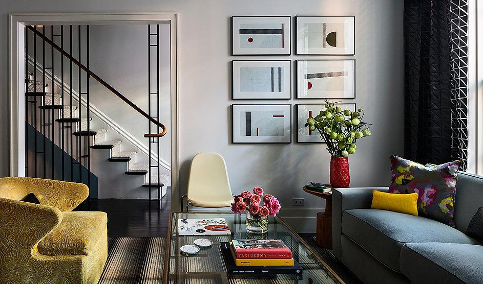Modern living room, modern interior design