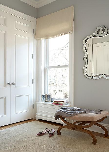 Cozy dressing room, Venetian mirror, Brooklyn brownstone, Traditional interior design