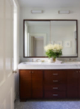 Mahogany bathroom vanity