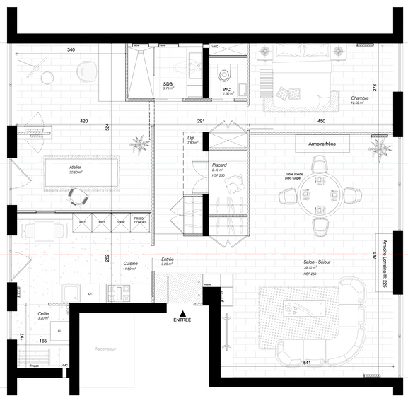 Plan de l'appartement (Projet)