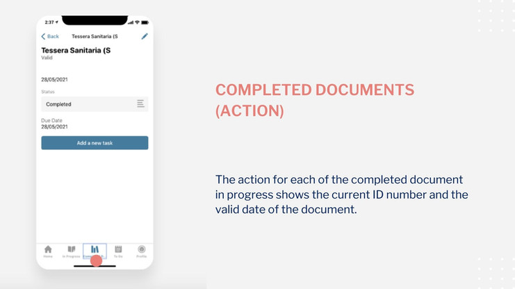 Startnieri screen completed documents (action)