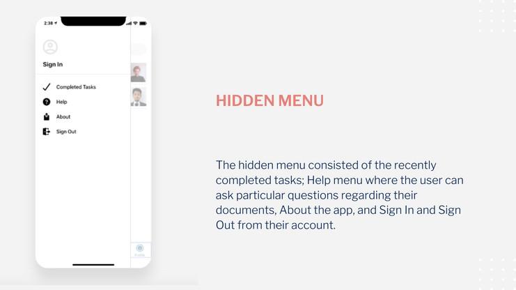 Startnieri screen hidden menu