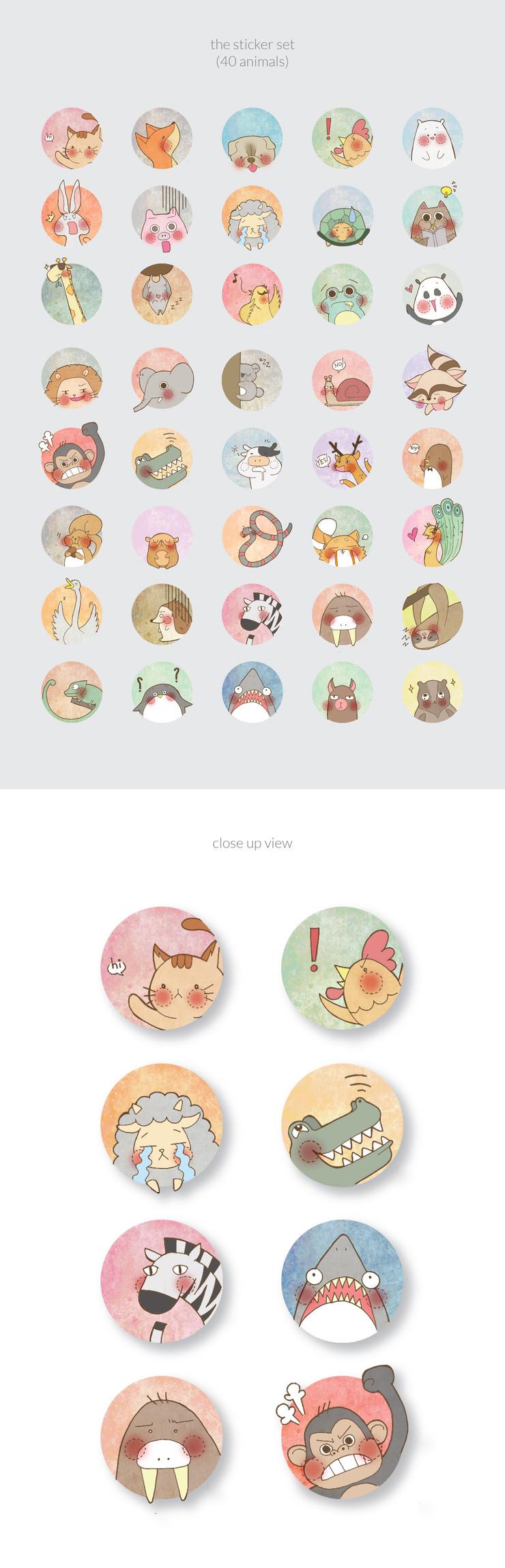 Cute Animal Kingdom Set