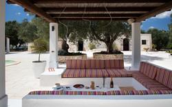 Custom built exterior sofas