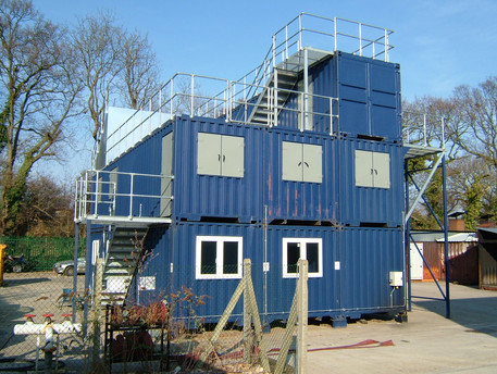 blue container building.JPG