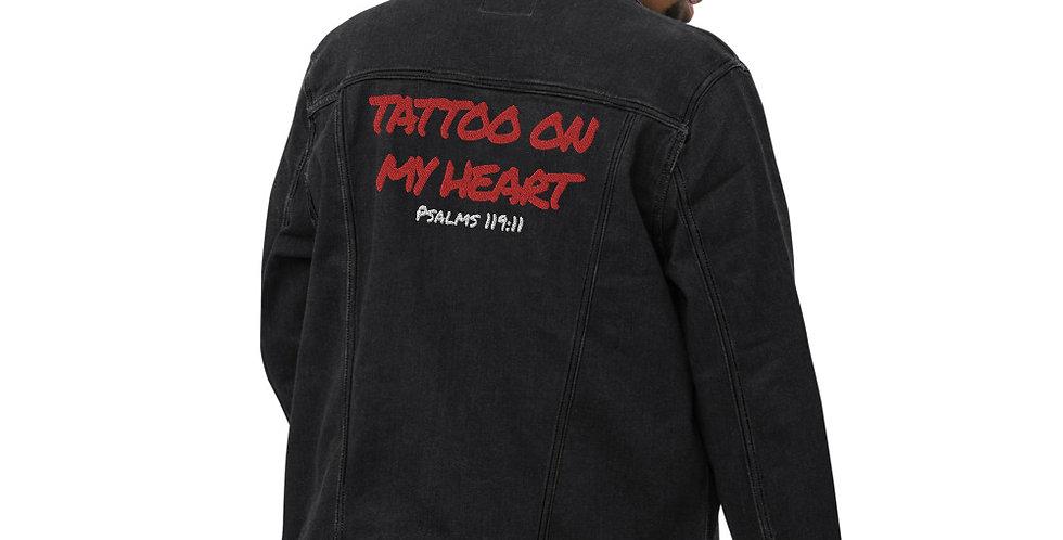 Tattoo denim jacket