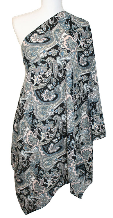 The Print Collection - Black Paisley