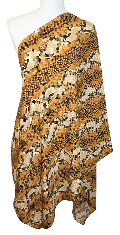 The Print Collection - Yellow Snakeskin