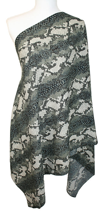 The Print Collection - Gray Snakeskin