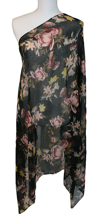 The Floral Collection - Black