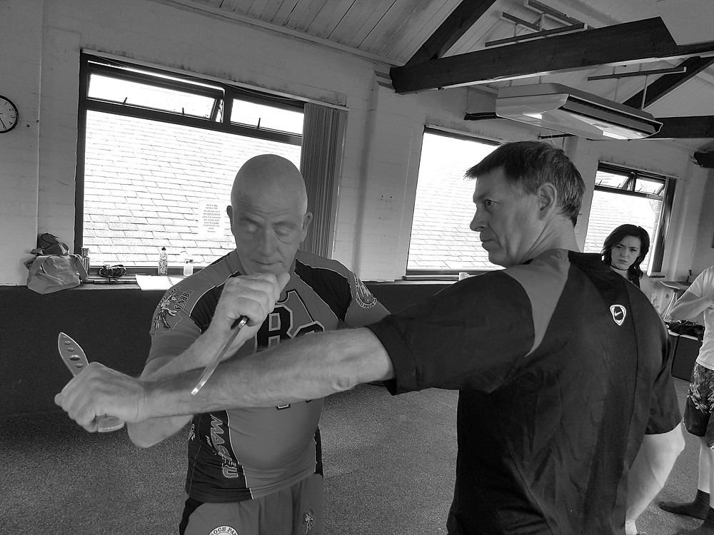 Chief Instructor Pat O'Malley (left) and Sr Instructor John Macdonald (right)