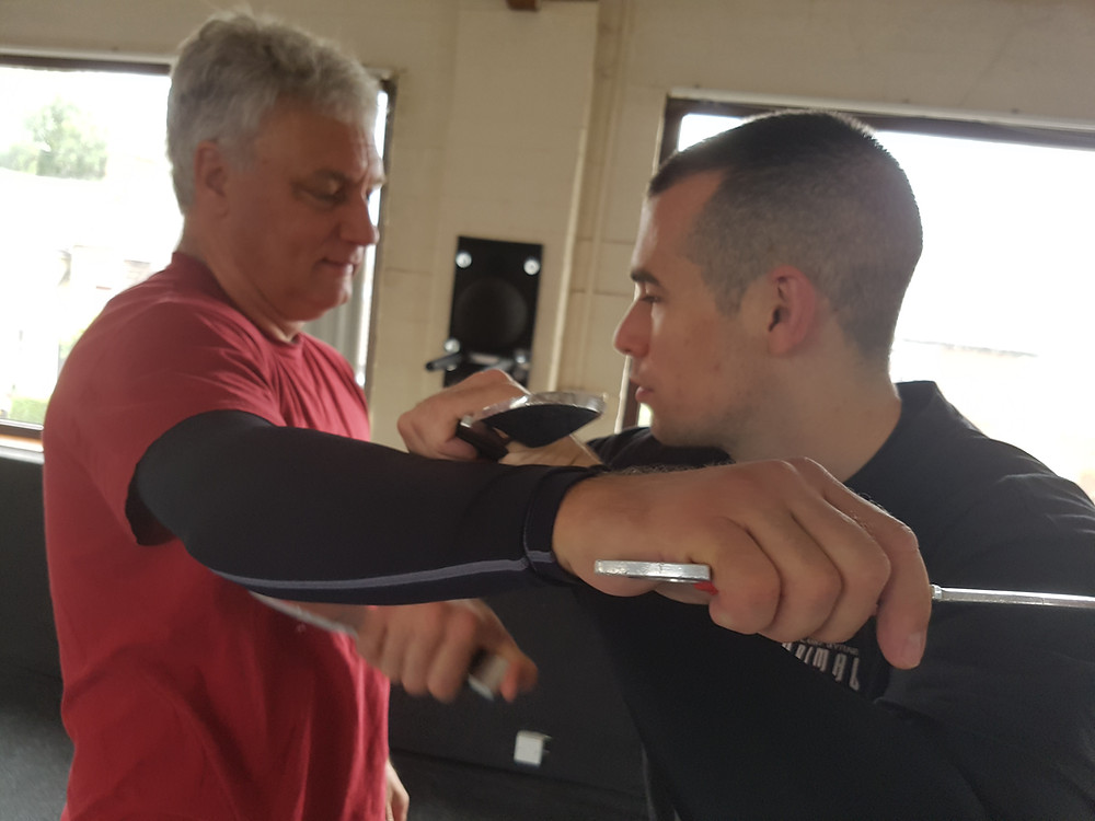 Training with Len at a workshop in Leicester