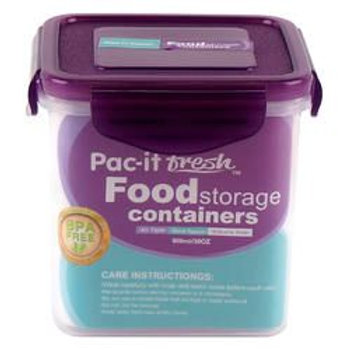 Container,900Mlwpurple Lid
