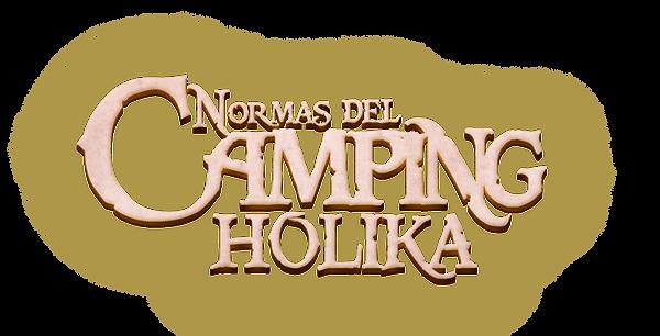 Normas del camping Holika