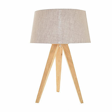 Tripod Table Lamp - Birch
