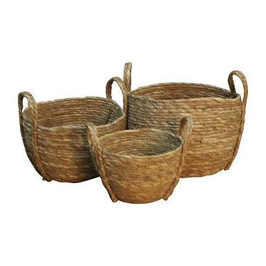 Set of 3 Weaved Baskets