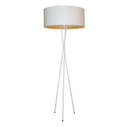 Tripod M/Steel Floor Lamp - White