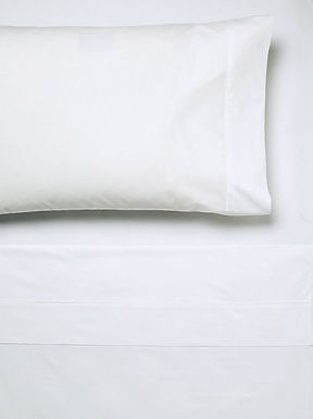 250TC Cotton White Fitted Sheets