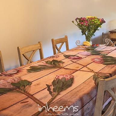 Tablecloth - Proteas on wood