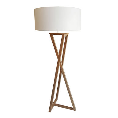 Ying Yang Floor Lamp - Oak