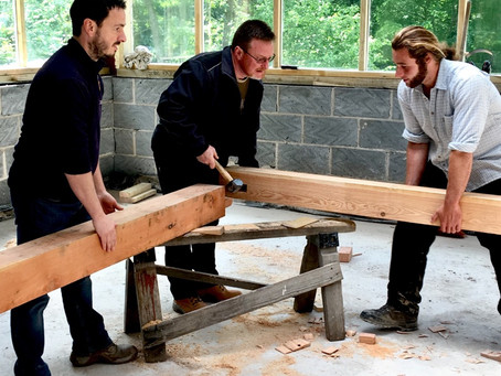 Day 1 - Timber framing course