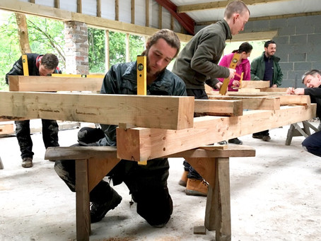 Day 2 - Timber framing course