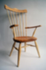 Captive arm Windsor chair.JPG
