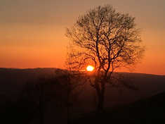 Sunset in the Clwydian Range