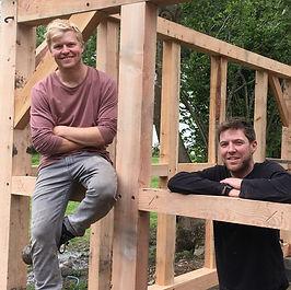 Joe & Fred Farey timber frame building