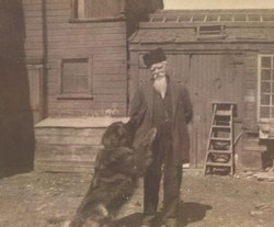 Dad Simmons and Jumbo the dog
