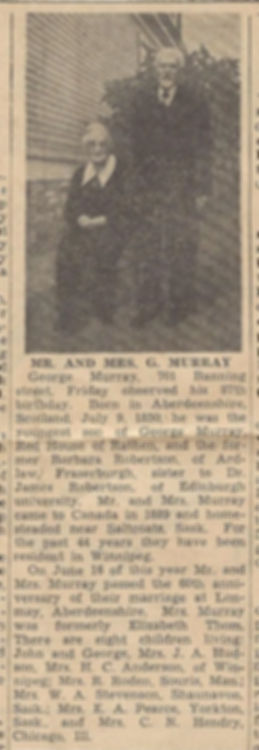 Grandma and Grandpa Murray 1937 newspape