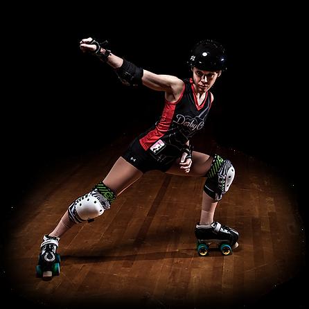 rollergirl powerslide on roller skates