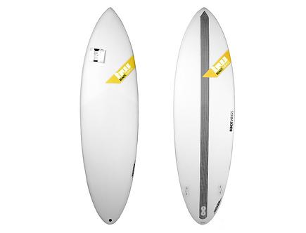 """Surf Blackwings 6'6"""" Shortboard Raven"""