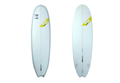 "Surf Blackwings 6'9"" Fish 6Pack Cristal Clear"