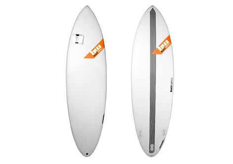 """Surf Blackwings5'8"""" Shortboard Raven"""