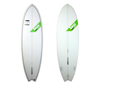 "Surf Blackwings 6'0"" Fish Fire Cristal Clear"