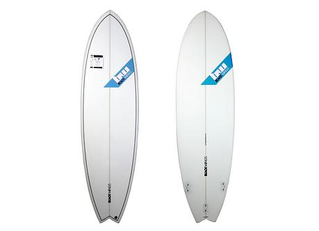 "Surf Blackwings 6'4""Fish Piranha Cristal Clear"