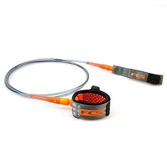 FCS Leash Allround Charcoal / Blood Orange 6' - 7' - 8' X 7mm