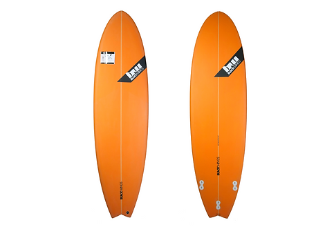 "Surf Blackwings 6'4"" Fish Piranha Orange"