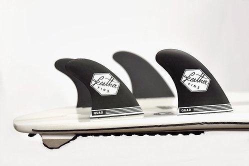 Feather Fins Ultralight Quad Series FCS Black