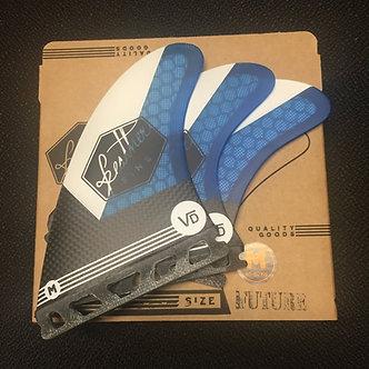 Feather Fins Signature Series Vincent Duvignac Blue / White
